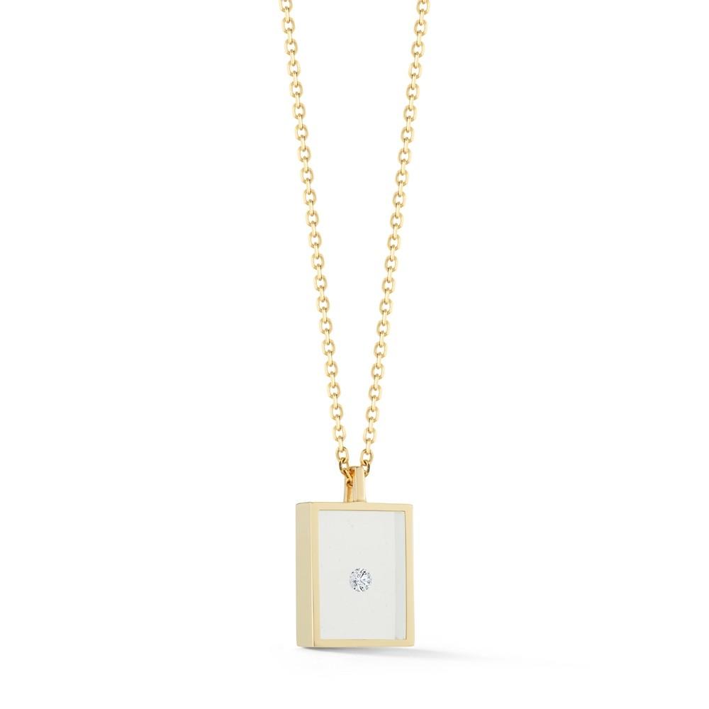 Floating Diamond Box Necklace