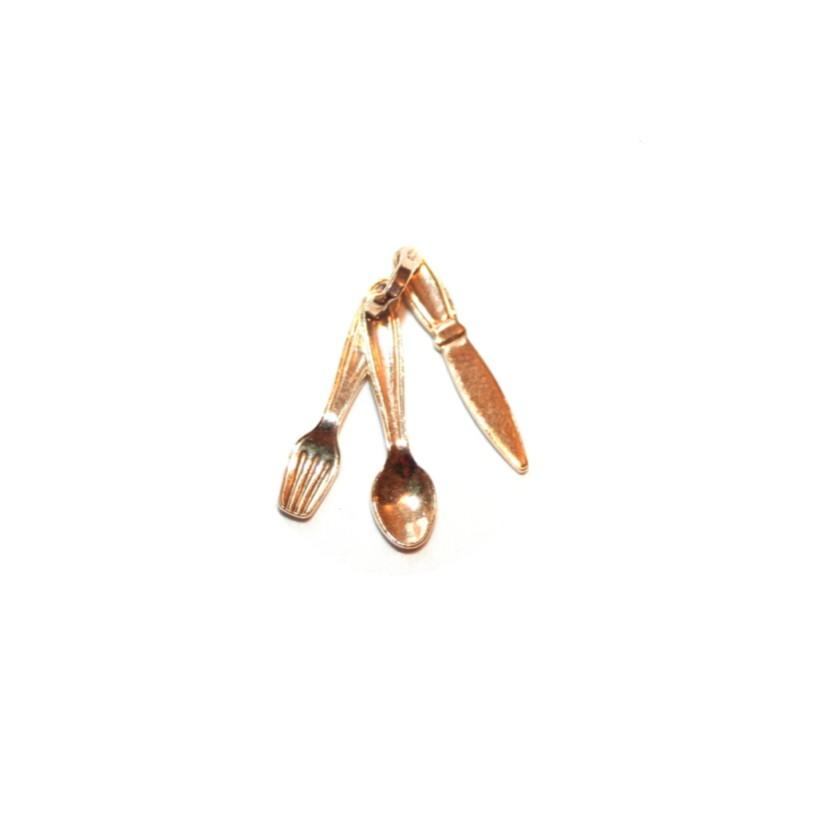 Estate Fork, Knife & Spoon Charm