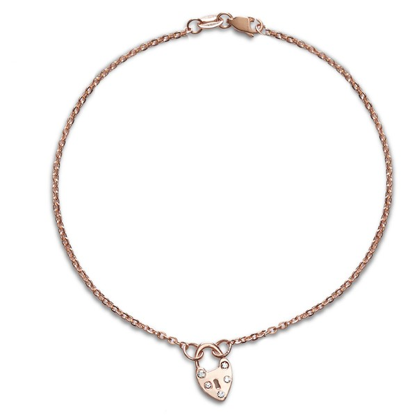 Diamond Heart Padlock Choker Necklace