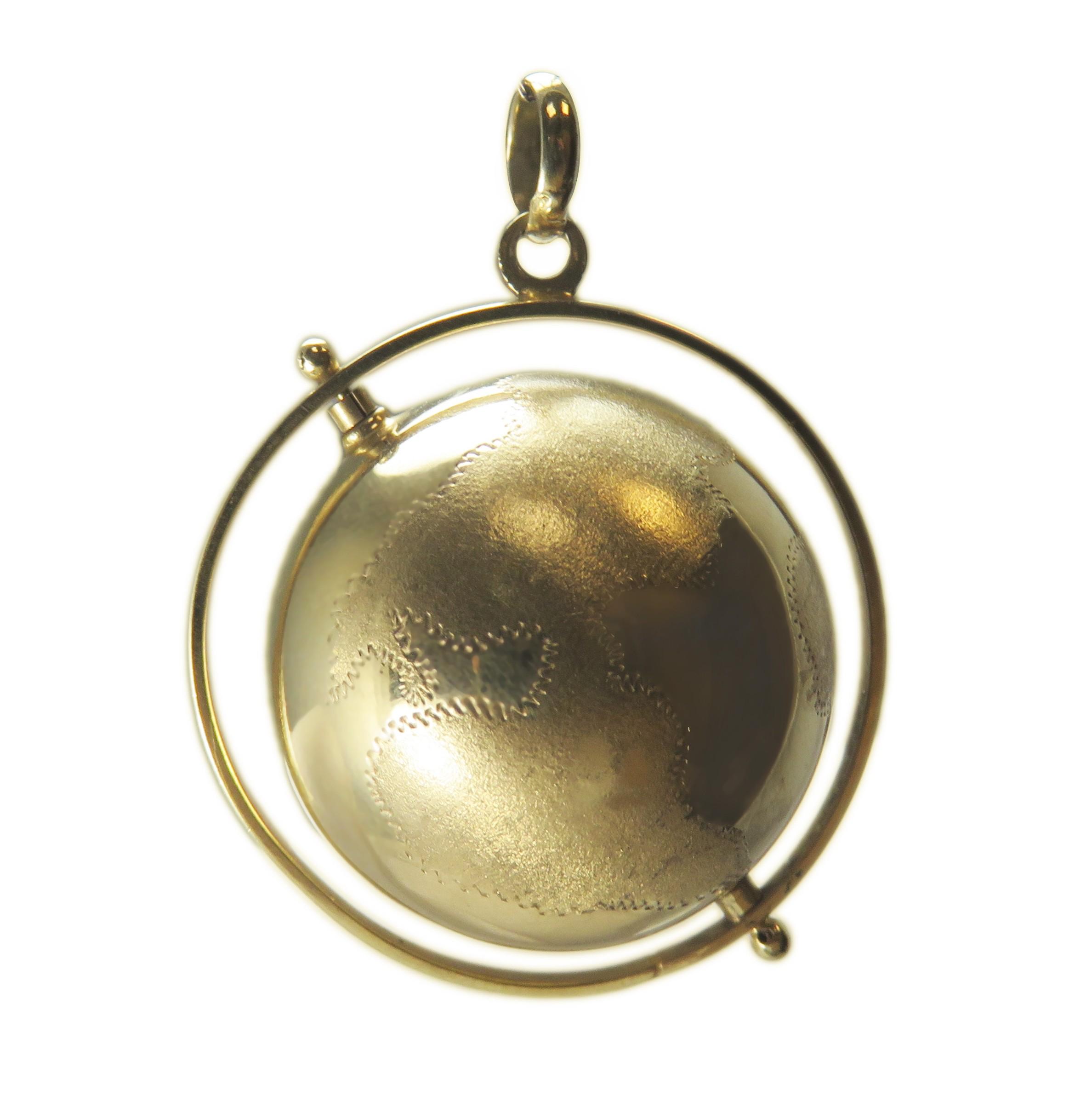 Estate Globe Charm