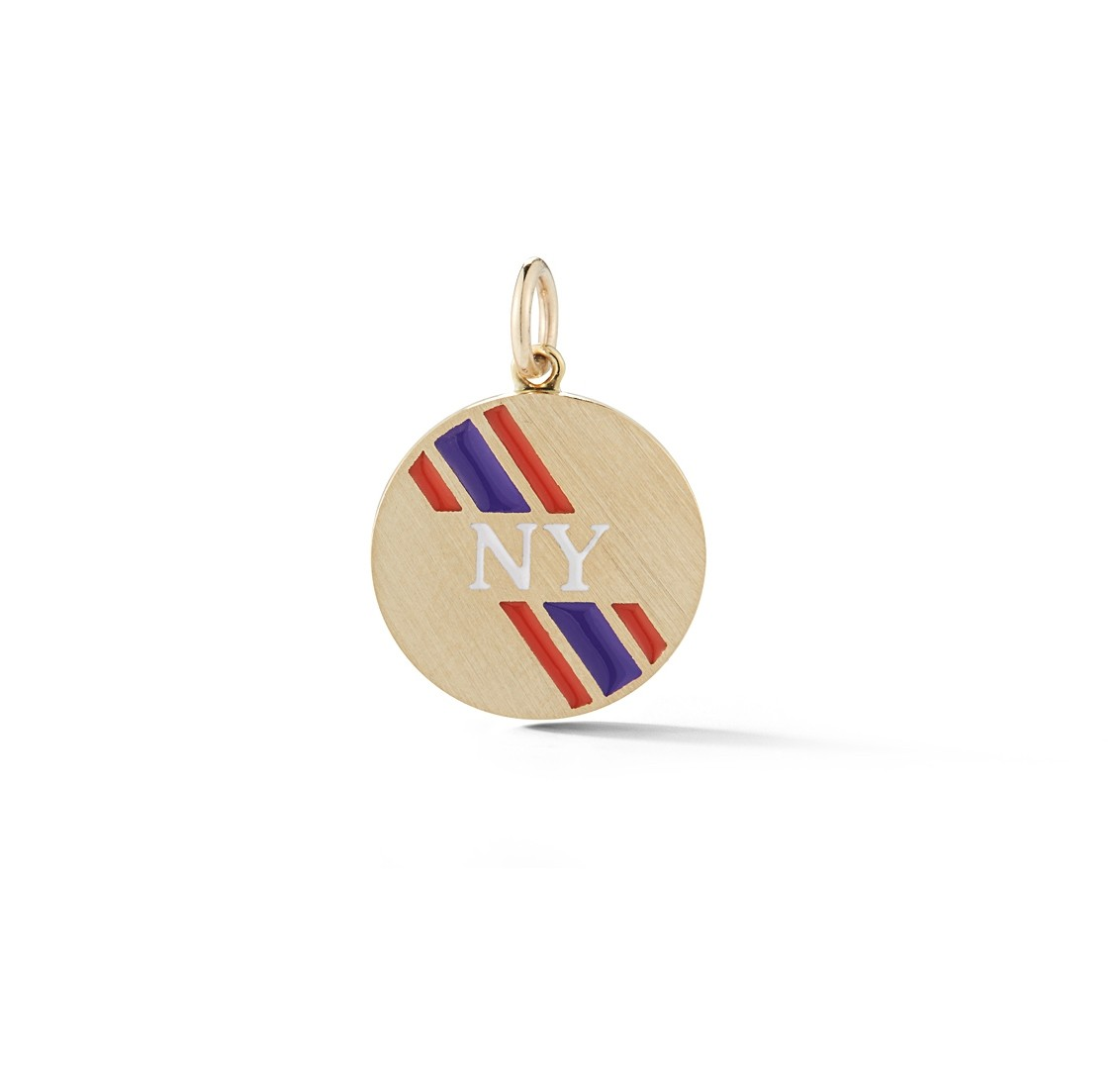 Petite Round Personalized Enamel Stripe Charm