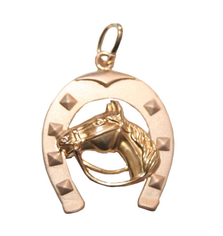 Estate Horse and Horseshoe charm