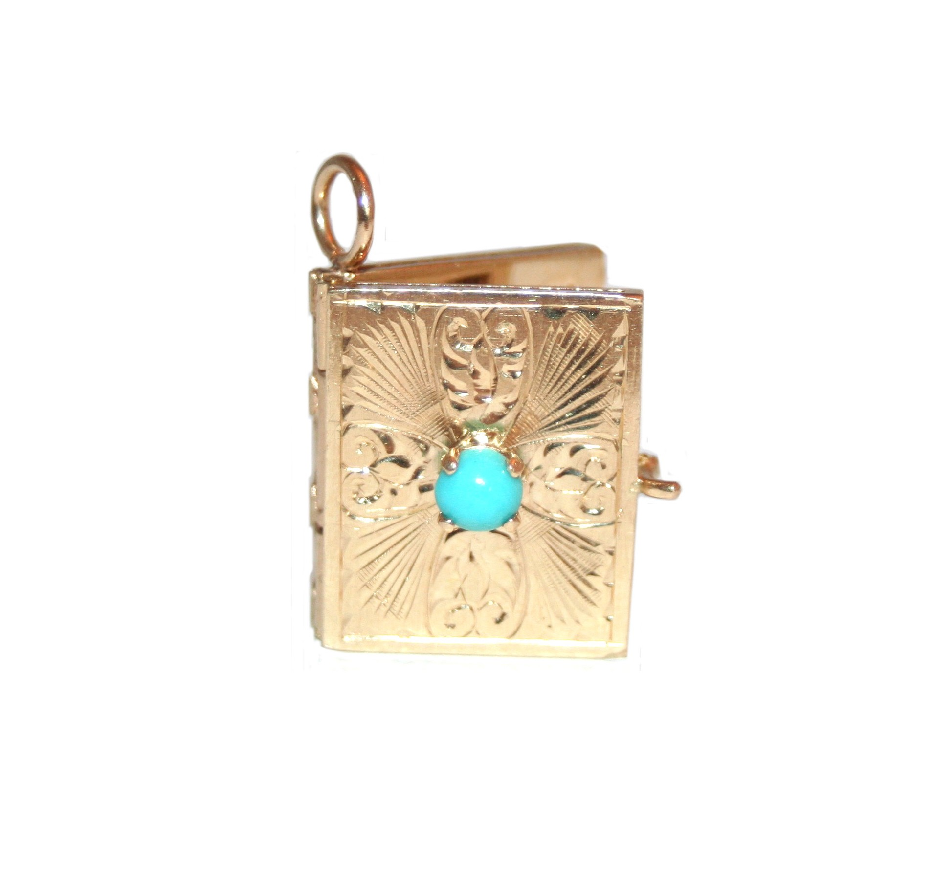 Estate turquoise book locket garland collection estate turquoise book locket aloadofball Gallery